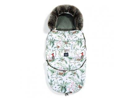 La Millou Dětský rostoucí zimní fusak Aspen Winterproof Combo Forest & Khaki