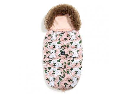 La Millou Dětský rostoucí zimní fusak Aspen Winterproof Combo Lady Peony & Powder Pink