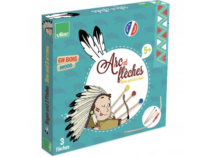Vilac indiánský luk a šípy s přísavkami pro děti