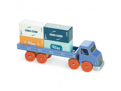 Vilac dřevěné nákladní auto s kontejnery Vilacity