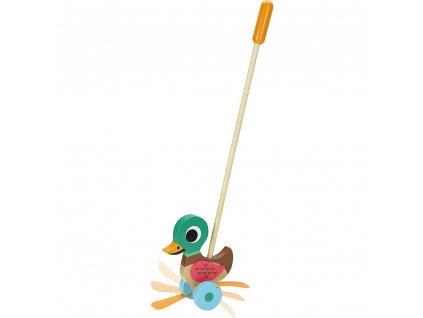 Vilac dřevěná ťapající kačenka na tyčce