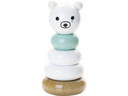 Vilac dřevěná nasazovací kolečka smutný polární medvídek