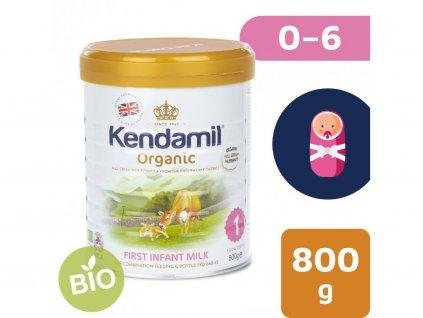 Kendamil 100% BIO:organické plnotučné kojenecké mléko 1 (800g) počáteční mléčná kojenecká výživa v prášku 6