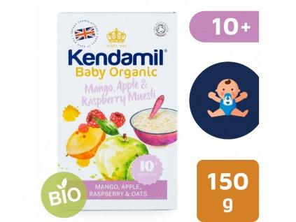 Kendamil BIO:Organická ovesná kaše s ovocem (mango, jablko, malina) (150g) 2