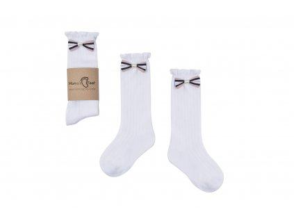 Mama's Feet Dětské podkolenky s mašlí Little White Princes