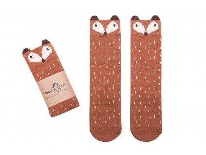 Mama's Feet Dětské podkolenky s liškou Crazy Animals Ginger Fox