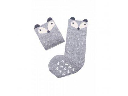Mama's Feet Dětské podkolenky s liškou Crazy Animals Sneaky Fox