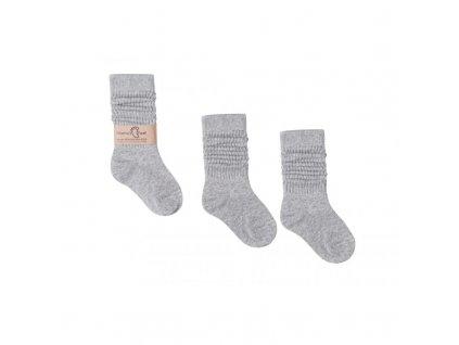 šedé ponožky, podkolenky