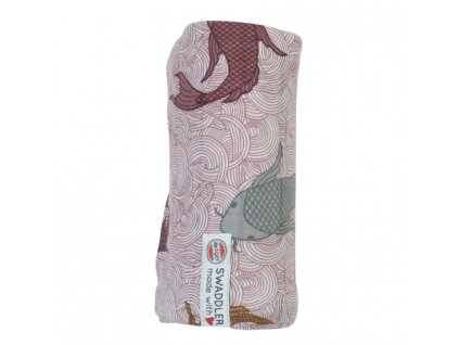 Lodger Swaddler Empire Fish 120 x 120 cm Nocture