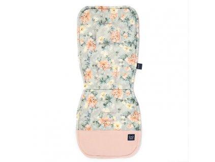 Podložka do kočárku La Millou Jersey Blooming Boutique Velvet Powder Pink