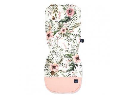 Podložka do kočárku La Millou Jersey Wild Blossom Velvet Powder Pink