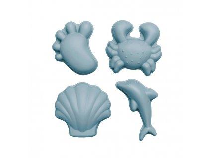 Scrunch Dětské silikonové bábovičky na písek Duck Egg Blue