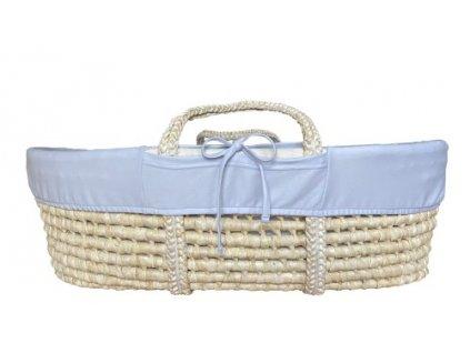 Ahojbaby Potah do Mojžíšova košíku pro miminko Grey organická bavlna