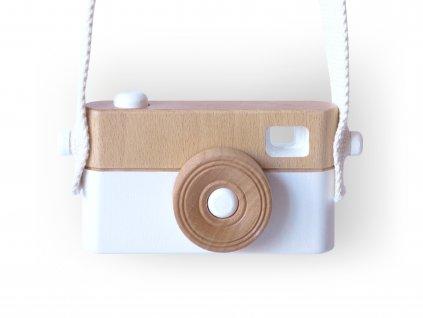 Dětský dřevěný fotoaparát PixFox Bílý