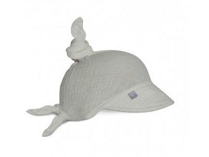 Babysteps Mušelínový šátek na hlavu Gray šedý