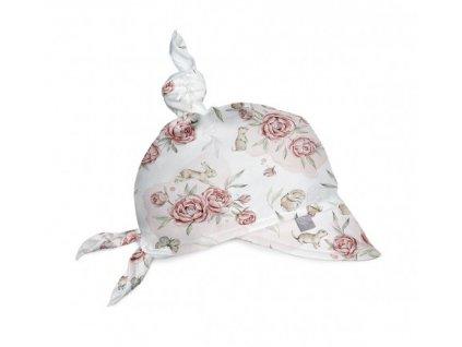 Babysteps Mušelínový šátek na hlavu Peony dreamlandPivoňky