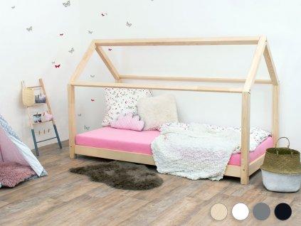 Benlemi Dětská postel domeček Tery bez bočnice (Barva Tyrkysová, Rozměr 140 x 200 cm)