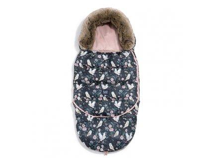 La Millou Dětský rostoucí zimní fusak Aspen Winterproof Combo Magil Owl & Smoked Rose