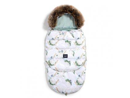 La Millou Dětský rostoucí zimní fusak Aspen Winterproof Combo Heron in a cream lotus & Smoke mint