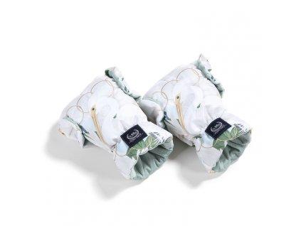 La Millou Univerzální rukavice na kočárek Aspen Winterproof Heron in a cream lotus & Smoke mint