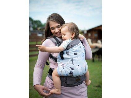 Kinder Hop Rostoucí ergonomické nosítko Multi Grow Roe Deers 100% bavlna 3