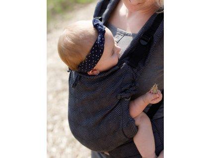 Kinder Hop Rostoucí ergonomické nosítko Multi Soft Diamond Graphite 100% bavlna, žakár