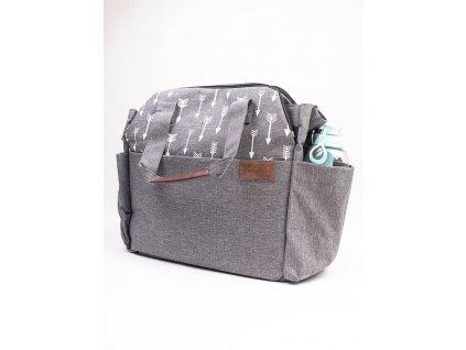 Kinder Hop Přebalovací taška na kočárek 2v1 Traveler Bag Space Grey 8