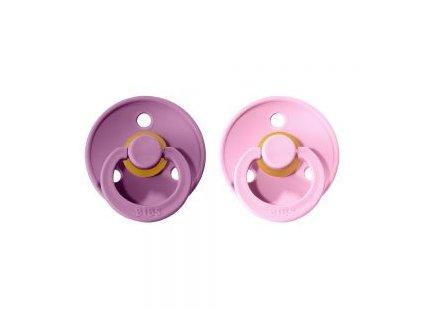 New BIBS dudlíky z přírodního kaučuku 2ks LavenderBaby pink levandulovárůžová