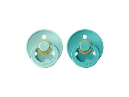New BIBS dudlíky z přírodního kaučuku 2ks MintTurquoise mintovátyrkysová
