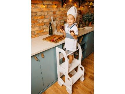 Učící věž 2v1 Car by Toddler in Family bílá all white