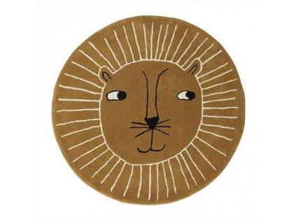 OYOY Dětský vlněný koberec Tygr 95 cm
