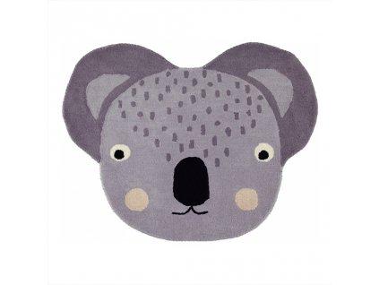 OYOY Dětský vlněný koberec Koala 85 x 100