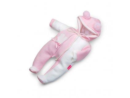 Berjuan Overálek pro panenky Pijamita růžový 38cm