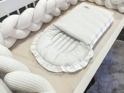 Spací pytel Dreamy White Waffle Cotton District for Kids