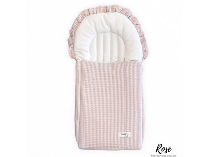 Spací pytel Dreamy Pink Waffle Cotton District for Kids