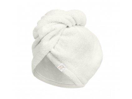 Bambusový turban na vlasy Ecru krémový (6)