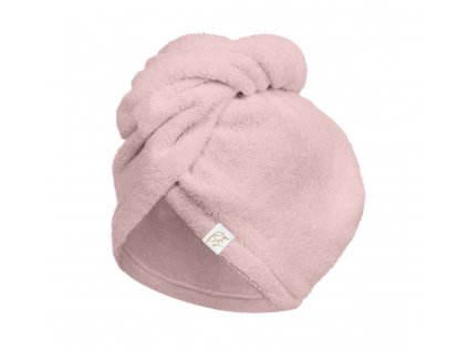 Bambusový turban na vlasy Sepia Rose růžový