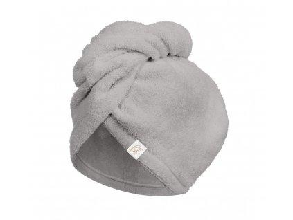 Bambusový turban na vlasy Gray šedý