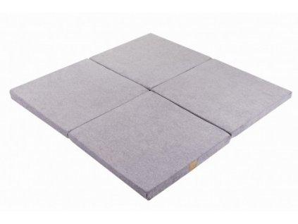Pěnová hrací podložka čtverec světle šedá (5)