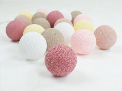 svitici koule balls ruzovo bezove pro holky