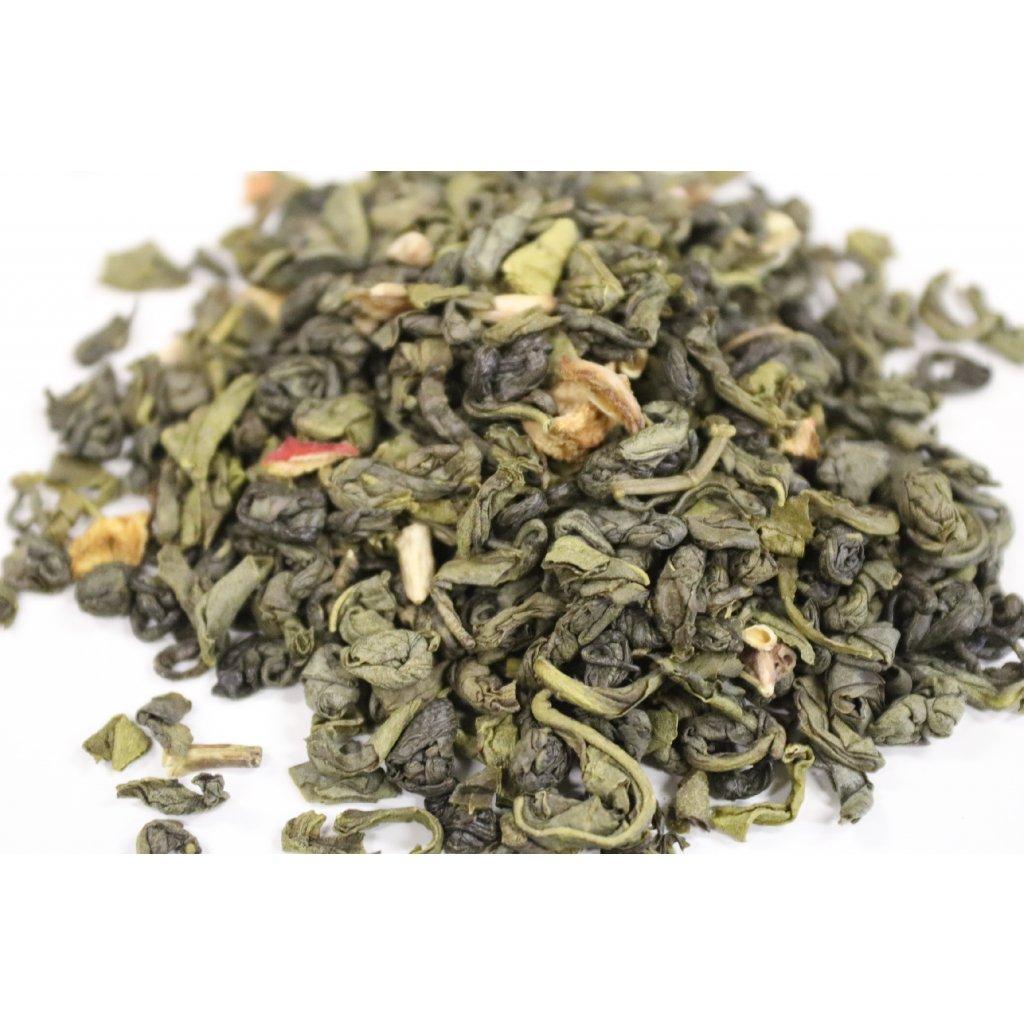 Gunpowder s granátovým jablkem - zelený čaj [MAXI balení]