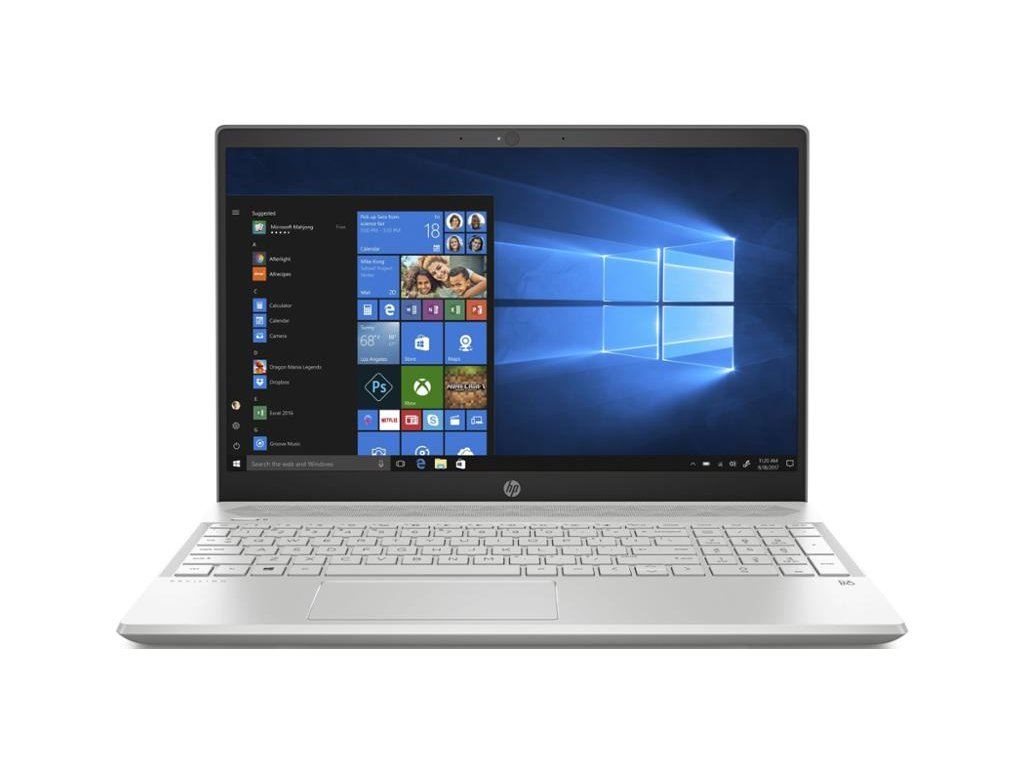 "Ntb HP Pavilion 15-cw0009nc R5-2500U, 8GB, 128+1000GB, 15.6"", Full HD, bez mechaniky, AMD Radeon RX Vega 8, BT, CAM, W10 Home - stříbrný / ROZBALENO"