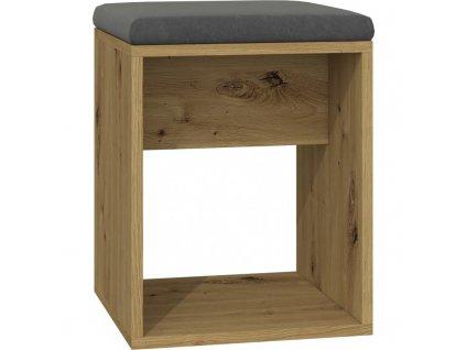 Stolička LUNA - dub artisan