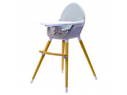Vysoká dřevěná židle Kinderline WHC-701.1 - Šedá