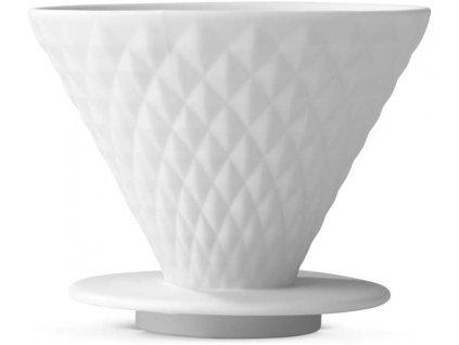 Porcelánový držák na kávové filtry BEEM - bílý
