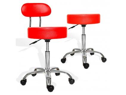 Kesser otočná židle / stolička / pracovní stolička / židle s opěradlem/ červená / ROZBALENO