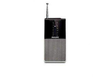 Radiopřijímač Philips Pocket radio AE AE1530 - černý/stříbrný / ZÁNOVNÍ