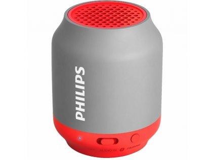 Přenosný reproduktor Philips BT25G/00 - šedý/růžový / ROZBALENO