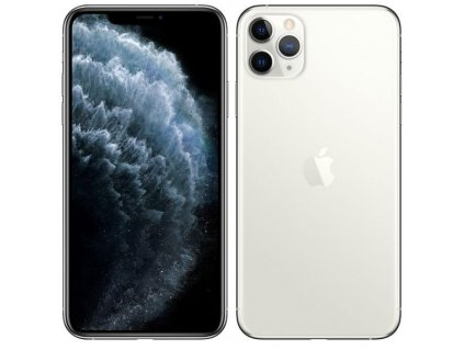 Mobilní telefon Apple iPhone 11 Pro Max 256 GB - Silver (MWHK2CN/A) / ROZBALENO