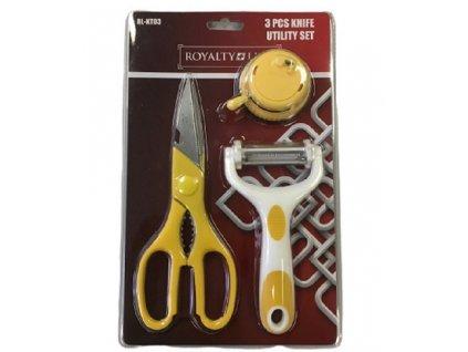 Royalty Line RL-KT03 škrabka, nůžky, brousek